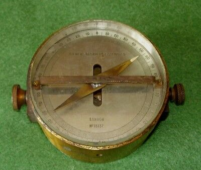 ANTIQUE SCIENTIFIC BRASS GALVANOMETER COMPASS SIEMENS BROTHERS LONDON No 16137