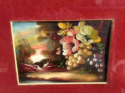 Stunning Antique French Oil Painting Floral Scene 19th.C Framed Rustic Chic NICE