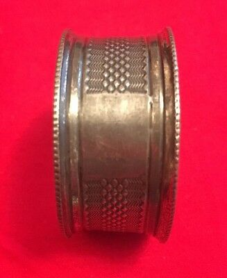 Antique Edwardian Silver Plated Napkin Ring c.1900-1915
