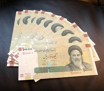 Persia 10 x 100000 100,000 10 Million Rials Bundle Iran original KHOMEINI