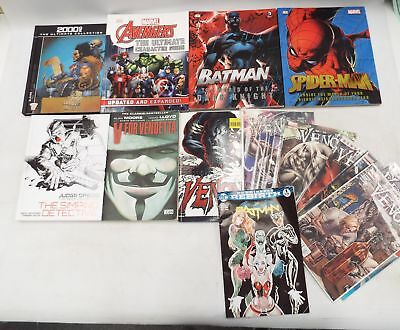 DC, MARVEL and 2000AD Graphic Novel, Book, & Comic Book Collection VENOM - W10