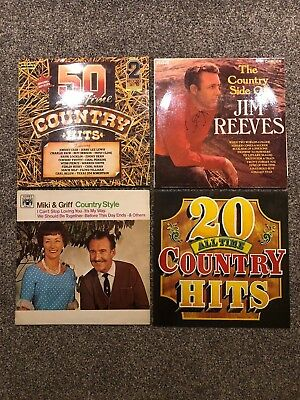 """Country 12"""" Vinyl Joblot - All Time Hits / Miki & Griff / The County Side Of"""