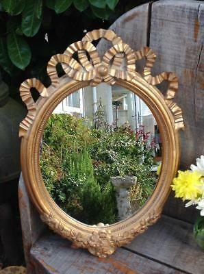 Vintage French Wall Mirror Mid Century Rococo Revival Ornate Gold Frame 60s Chic