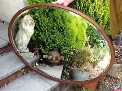 Large Antique Dressing Mirror Victorian Mahogany Overmantle Wall Mirror Beveled