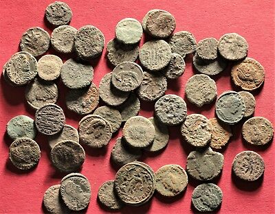 Lot of 50 Ancient Roman Bronze Coins, AE3, AE4, Follis, #1