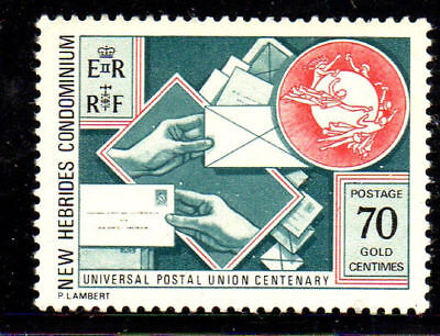 New Hebrides, British #193  1974  Upu  Mint  Vf Nh  O.g