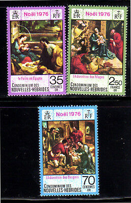 NEW HEBRIDES, BRITISH #211-213  1976  CHRISTMAS  MINT  VF NH  O.G  a