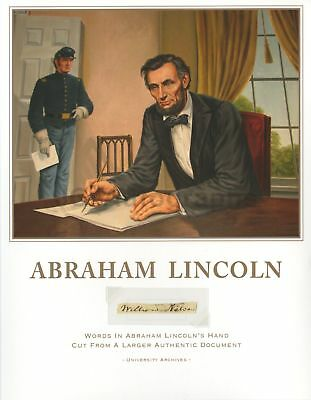 "Abraham Lincoln ""William Nelson"" Hand-Written Words from Larger Document"