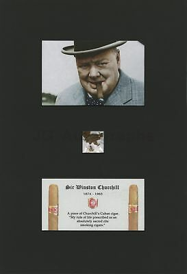 Winston Churchill Original Pieces of His Personally Owned Cigar From His Butler