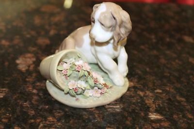 Lladro 7672 It Wasn't Me ! Collectors Society Figurine Puppy Dog Retired 1998