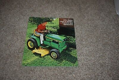 1968 John Deere Lawn & Garden Tractor & Equipment sales brochure 60 110 112 140