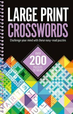 Large Print Crosswords Book The Cheap Fast Free Post