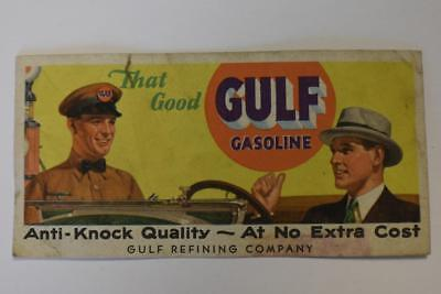 Vintage Ink blotter Advertising Gulf Gasoline