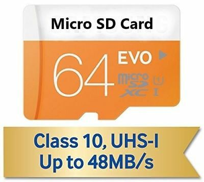 64GB Micro SD SDHC SDXC EVO+ 80MB/s UHS-I Class 10 TF Card with adapter