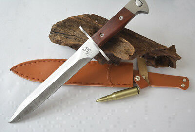 New Sharp Stainless Steel AK-47 Fighting Knife Dagger Sword with FREE Cover