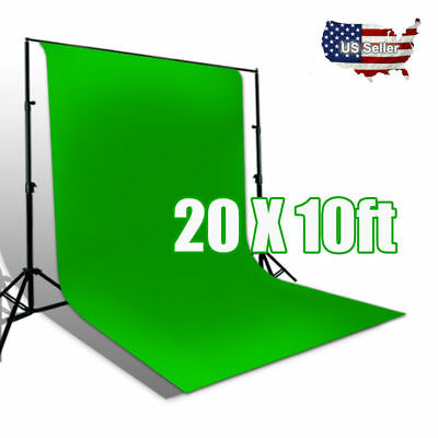 Chromakey Green Screen 10ft x 20ft Muslin Backdrop Photo Photography Background