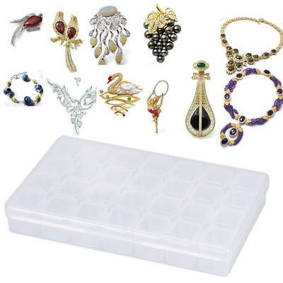 28 Slots Empty Storage Container Box Case for Nail Art Tip Rhinestone Gems @1H&