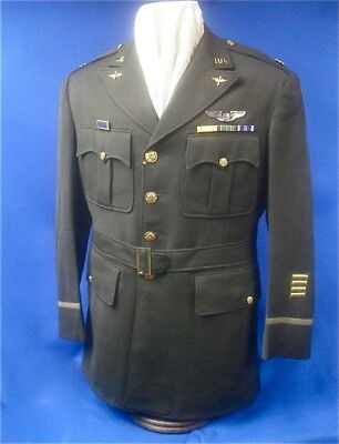WWII US Army 8th Air Force Officer's Uniform with Silver Pilot Wing  Size 42