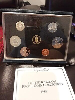 Great Britain UK 1988 Proof Set 7 Coins