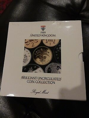 1989 Uk Brilliant Uncirculated Coin Set