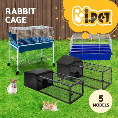i.Pet Rabbit Bunny Cage Hutch Ferret Guinea Pig Pet Cages Run House Carrier