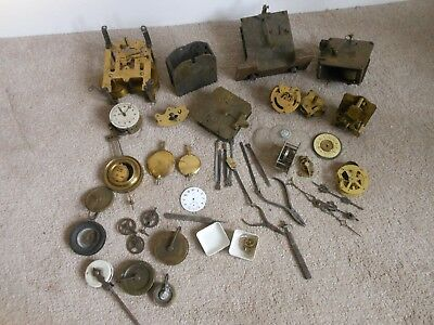 Quantity Of Antique Clock Parts & Movements