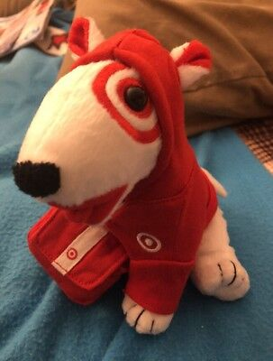 Target Messenger Bullseye Dog with Messenger Bag & Removable Hoodie!