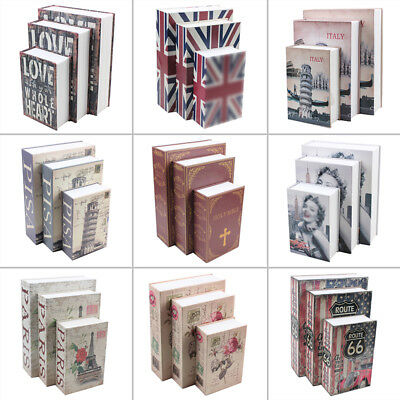 Dictionary Hollow Book Safe Storage Money Security Lock packages Box & 2Pcs KEYS