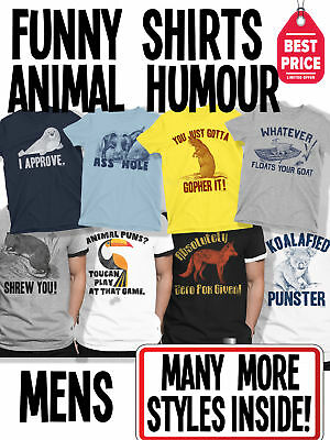 Funny Mens Animal Humour T-Shirts Novelty Pun T Shirts Joke Tees Birthday Gifts