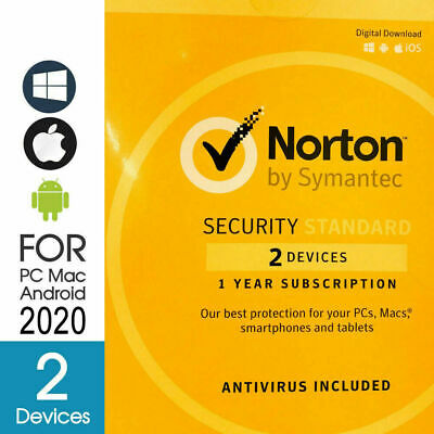 2Devices Norton Security Standard Multi Device 2PC FAST DELIVERY KEY 2018 - 2019