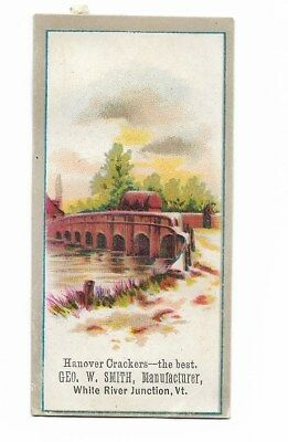 Hanover Crackers George W Smith White River Junction VT Bridge Vict Card c1880s