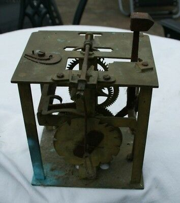 Large Antique Chain/Weight Driven Clock Movement, Spares/Repair