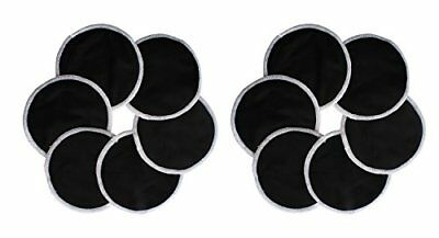 Washable Natural Bamboo Breast Pads pack Of 12, Black