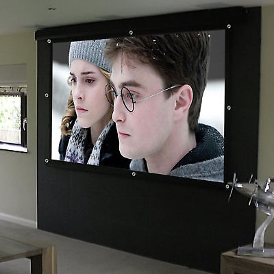 "100"" Inch 16:9 Collapsible HD Projector Projection Screen Home Cinema Theater UK"