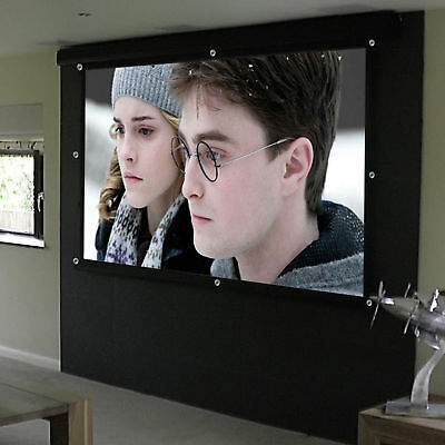"Portable 100"" Inch 16:9 Fabric Matte Projector Projection Screen Cinema Theater"