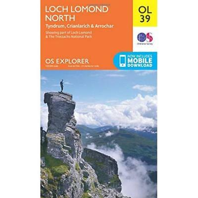 OS Explorer OL39 Loch Lomond North (OS Explorer Map) - Map NEW Ordnance Survey 2