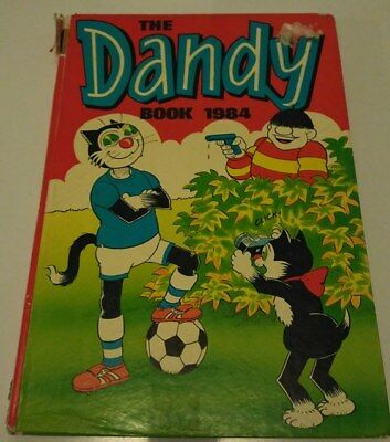 Dandy Annual 1984 - price unclipped - great/ used condition - Desperate Dan