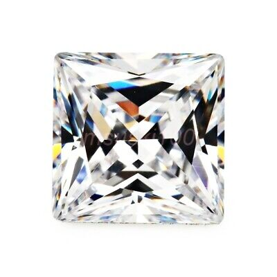 Cubic Zirconia SQUARE Loose Stones Clear Crystal AAAA CZ Gems Princess 2 - 10mm