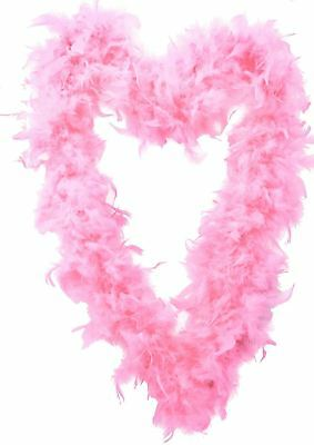 Quality Baby Pink Feather Boa Flapper Burlesque Dance Fancy Dress Hen Accessory