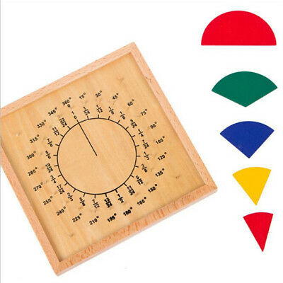 Babies Circular Mathematics Fraction Division Teaching Aids Montessori Toys CB