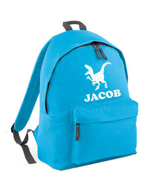 d27f18dfcc Personalised Dinosaur Backpack School Bag For Boys With Child Name Printed  L288