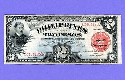 1936 2 PESCOS Philippines NOTE Red Seal NICE CONDITION