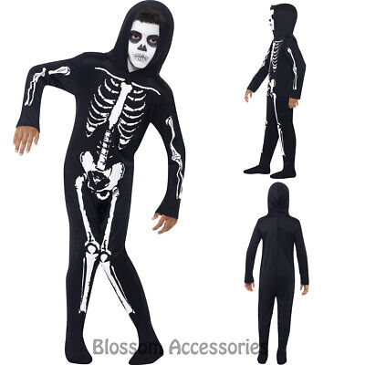 CK877 Skeleton Halloween Child Boys Girls Jumpsuit Skull Costume Outfit