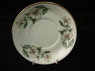 "CROWN STAFFORDSHIRE "" CHRISTMAS ROSES "" 14cm SAUCER"