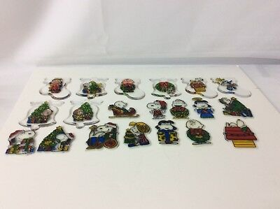 Stained Glass Window Hang Suncatchers Asst. Lot Of 18 Peanut Characters