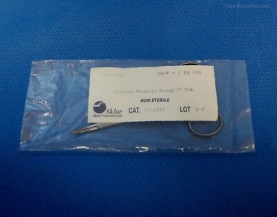 """Sklar 5"""" Halsted Mosquito Forceps Curved U.S. Stainless 17-1550"""