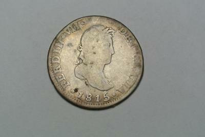 Spain 1815 2 Reales Coin - C5603A