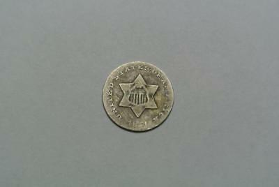 Average Circulated Silver 1851 Three 3 Cent U.S. Coin - C5680A