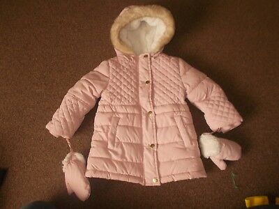 baby girls lovely coat with mitts 18-24 months   very good condition