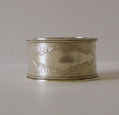 A Good Quality Antique Sterling Silver Napkin Ring Birmingham 1905